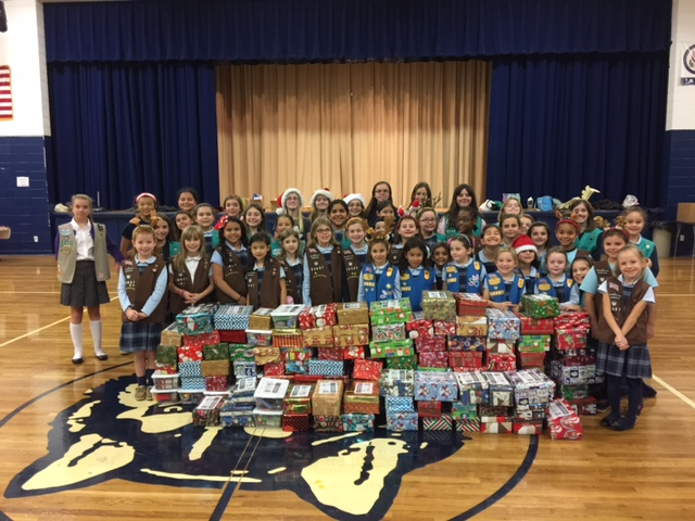 Girl Scouts-shoe boxes